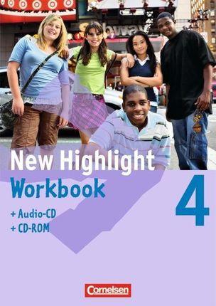 New Highlight 4: 8. Schuljahr. Workbook mit CD-ROM und Text-CD