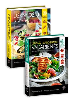 Mėgstantiems gaminti lengvai ir valgyti skaniai! Neringos Kalasauskaitės knygų rinkinys: LENGVAI PARUOŠIAMOS VAKARIENĖS + UŽKANDŽIŲ KNYGA