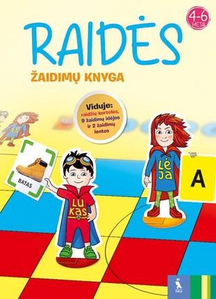 Raidės. Žaidimų knyga. 4-6 metų vaikams