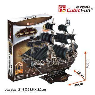 "3D dėlionė: laivas ""The Queen Anne's Revenge"""