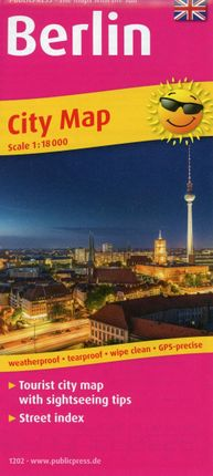 Berlin City Map englisch1:18 000