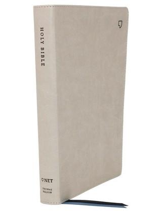 NET Bible, Thinline Large Print, Leathersoft, Stone, Comfort Print