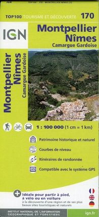 IGN 1 : 100 000 Montpellier Nîmes