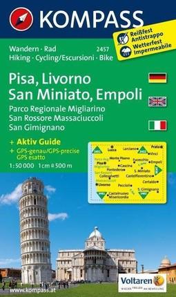 Pisa - Livorno - San Miniato - Empoli - Parco Regionale Migliarino San Rossore Massaciuccoli - San Gimignano 1 : 50 000