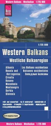 Reise Know-How Landkarte Westliche Balkanregion 1 : 725.000: Albanien, Bosnien und Herzegowina, Kosovo, Kroatien, Mazedonien, Montenegro, Serbien, Slowenien