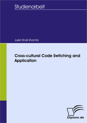 Cross-cultural Code Switching and Application