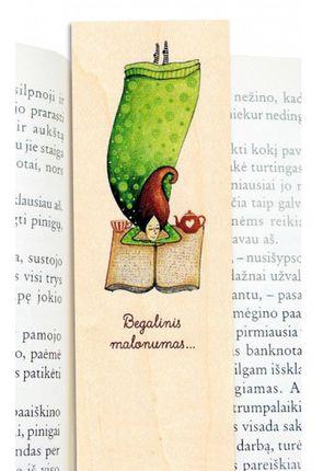 """Medinis knygų skirtukas """"Begalinis malonumas..."""""""