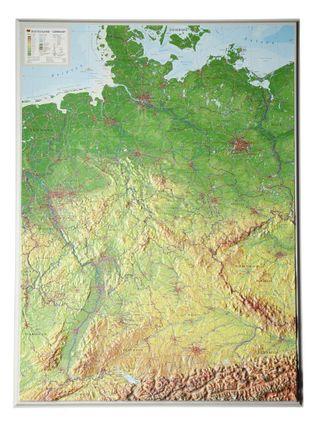 Reliefkarte Deutschland 1 : 1 200 000