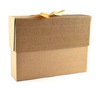 Dėžutė knygoms (ruda, 19 x 25 x 6 cm)