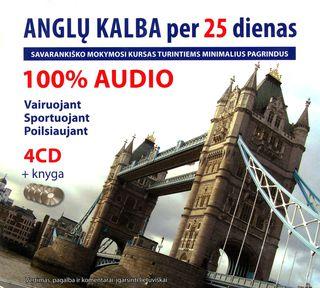 Anglų kalba per 25 dienas. Audio kursas (4CD+knyga)