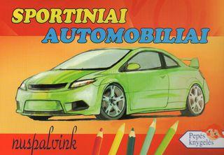Sportiniai automobiliai. Nuspalvink