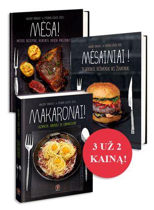 3 už 2 kainą! Madinga virtuvė: Mėsainiai + Mėsa + Makaronai (naujiena!)