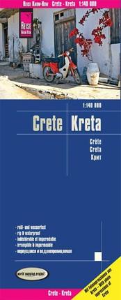 Reise Know-How Landkarte Kreta 1 : 140.000