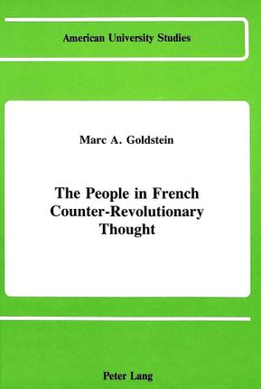 The People in French Counter-Revolutionary Thought