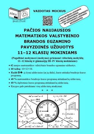 Pačios naujausios matematikos valstybinio brandos egzamino pavyzdinės užduotys 1
