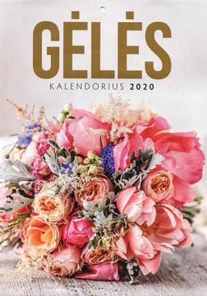 2020 m. kalendorius Gėlės (A4)