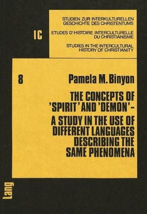 The Concepts of 'Spirit' and 'Demon'