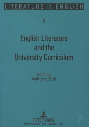 English Literature and the University Curriculum