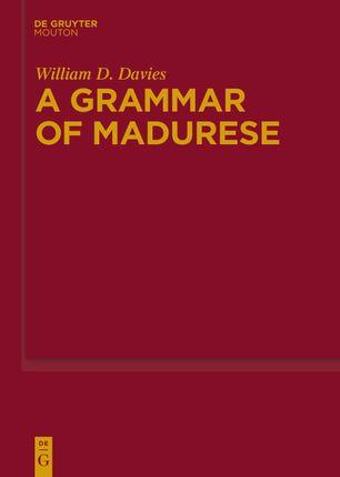 A Grammar of Madurese