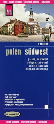Reise Know-How Landkarte Polen, Südwest 1 : 360.000