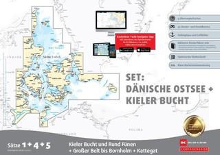 Sportbootkarten Satz 1, 4 und 5   Set: Dänische Ostsee und Kieler Bucht (Ausgabe 2021)