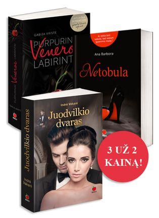 3 už 2 kainą! Intriguojantys lietuvių autorių meilės romanai: Juodvilkio dvaras (naujiena!) + Netobula + Purpuriniai Veneros labirintai