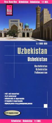 Reise Know-How Landkarte Usbekistan 1 : 1.000.000