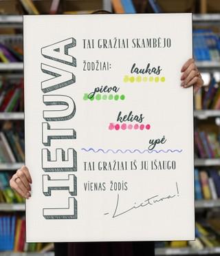 """Laimingų namų taisyklės """"Lietuva"""", 70 x 50 cm"""