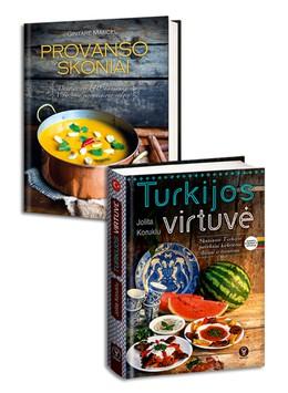 Atraskite pasaulio virtuvių skonius! TURKIJOS VIRTUVĖ: skaniausi Turkijos patiekalai kasdienai ir šventėms + PROVANSO SKONIAI: daugiau nei 140 skaniausių Viduržemio jūros regiono valgių