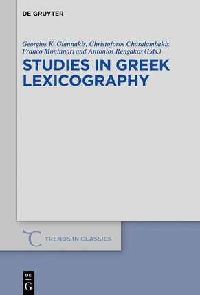 Studies in Greek Lexicography