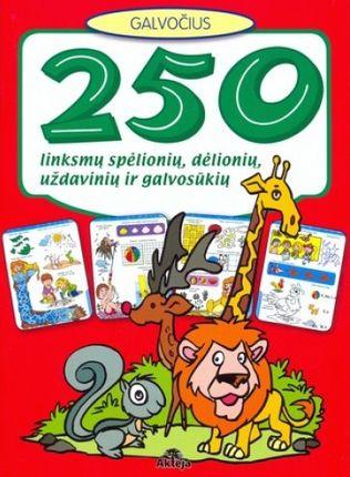 250 linksmų spėlionių, dėlionių, uždavinių ir galvosūkių (raudona)