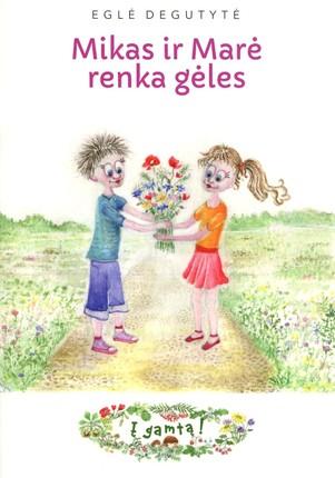 Mikas ir Marė renka gėles