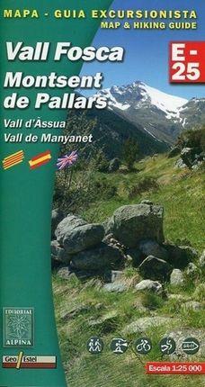 Vall Fosca - Montsent de Pallars E-25. Wanderkarte 1 : 25 000