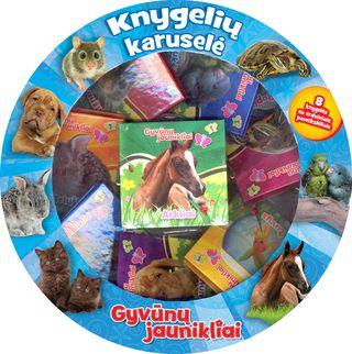 Gyvūnų jaunikliai. Knygelių karuselė. 8 knygelės su erdviniais paveikslėliais