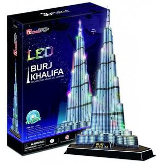 3D dėlionė: Burj Khalifa (su LED apšvietimu)