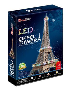 3D dėlionė: Eiffel Tower (su LED apšvietimu)