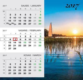 """2017 metų pastatomas kalendorius """"Ežeras"""""""