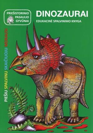 Dinozaurai. Edukacinė spalvinimo knyga