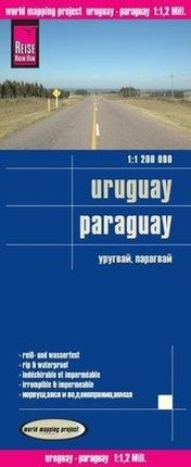 Reise Know-How Landkarte Uruguay, Paraguay  1 : 1.200 000