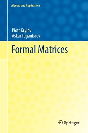 Formal Matrices