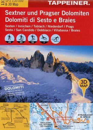 Winter Wonderland Sextner und Pragser Dolomiten 1 : 35.000