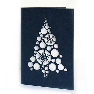 Kalėdinis sveikinimo atvirukas su voku (mėlynas)