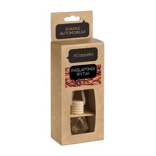 Automobilių kvapas stiklinis daugiakampis ACappella Paslaptingi rytai (dėžutėje), 7ml