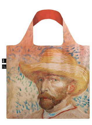 "LOQI pirkinių krepšys ""VINCENT VAN GOGH Self Portrait with Straw Hat Bag"""