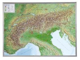 Alpen 1 : 1 200 000 Aluminium Rahmen