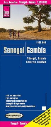 Reise Know-How Landkarte Senegal, Gambia 1 : 550 000
