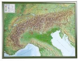 Alpen 1 : 1 200 000 mit Rahmen