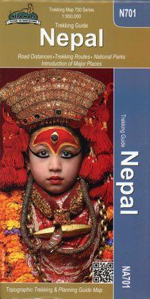 Nepal Trekking Map 1 : 950 000