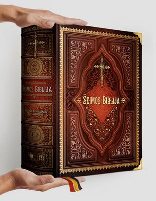 ŠEIMOS BIBLIJA: 1600 puslapių, daugiau nei 900 iliustracijų – gražiausiai kada nors pasaulyje išleistas Senasis ir Naujasis Testamentas vienoje XXL knygoje!