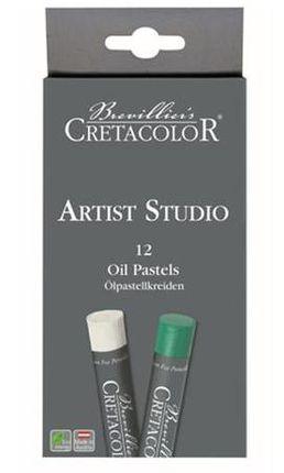 Aliejinės kreidelės Artist Studio, 12 spalvų